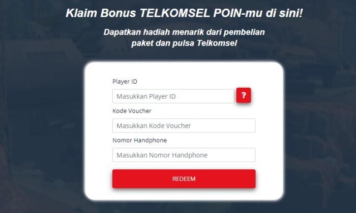 Redeem Upoint Voucher Telkomsel Detail