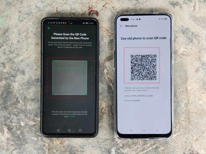 Reno4 F Clone Phone QR Code Mode