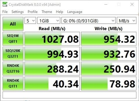 Review WD My Passport SSD 1TB CrystalDiskMark MBs