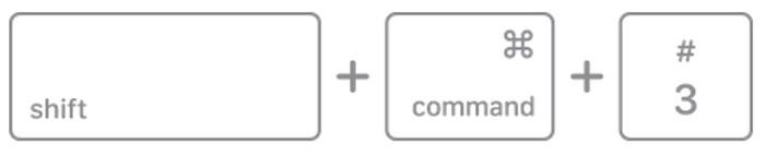 Perintah shift command 3 MacBook