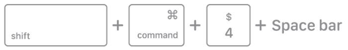 Perintah shift command 4 spacebar MacBook