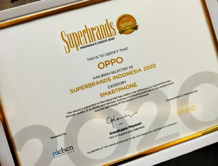 Superbrands OPPO Sertifikat 2020