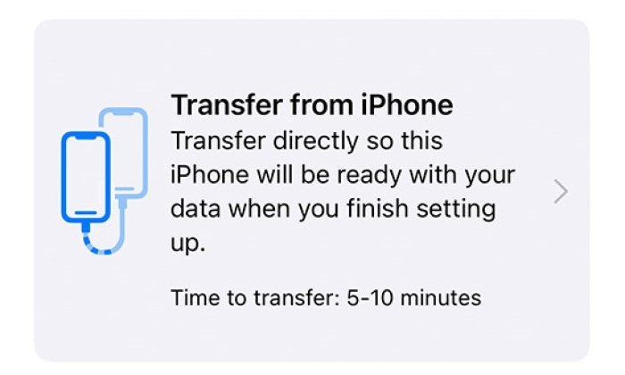 Transfer from iPhone
