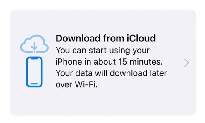 Download from iCloud