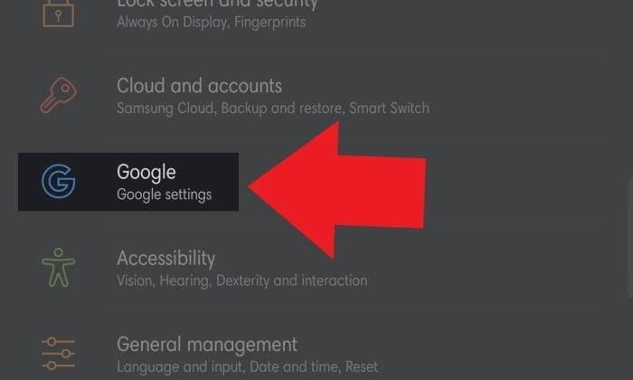 Google setting hp lama