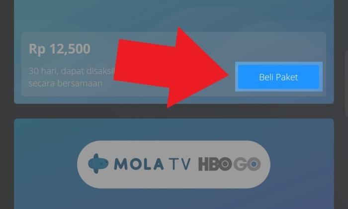Beli Paket Berlangganan MOLA TV Harga