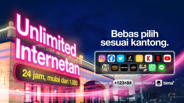 Paket Unlimited Tri dan Cara Berhenti - Unlimited Internetan