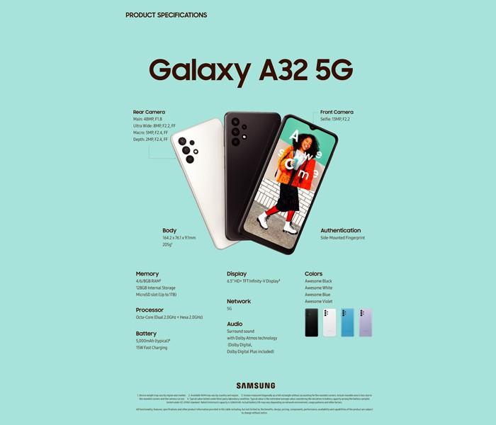 Samsung Galaxy A32 5G Spec