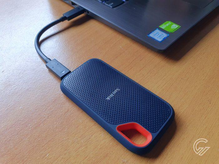 SanDisk Extreme Portable SSD Terhubung