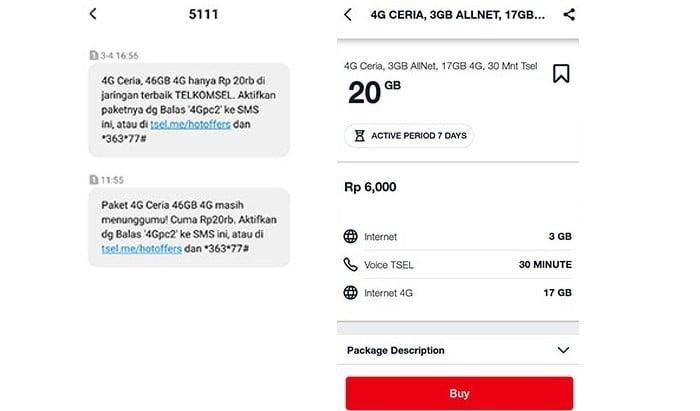 Paket 4G Ceria Telkomsel
