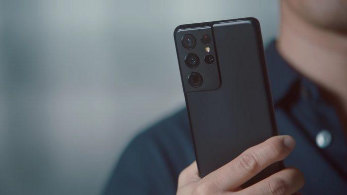 Samsung Galaxy S21 Ultra Bagian Belakang Lensa