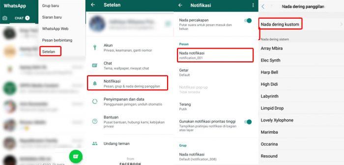 Cara Mengubah Nada Dering WhatsApp di vivo