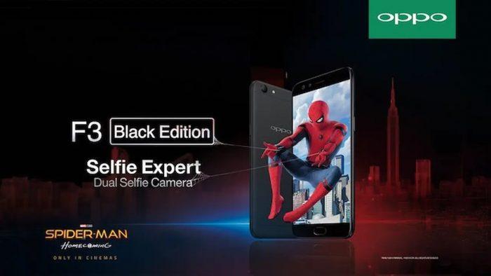 OPPO F3 Black Spider-man