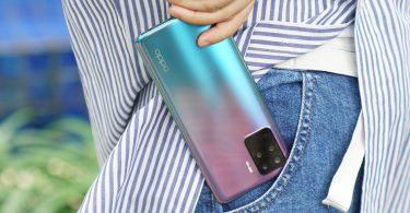 OPPO Reno5 F Purple wallet