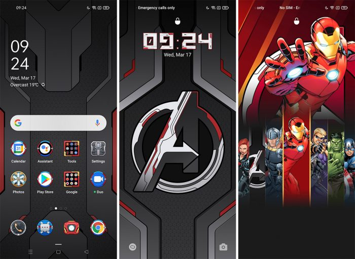 OPPO Reno5 Marvel Edition UI