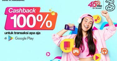 Tri Indonesia Cashback 100 Persens