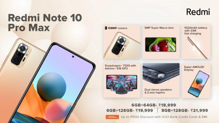 Spesifikasi Xiaomi Redmi Note 10 Pro Max