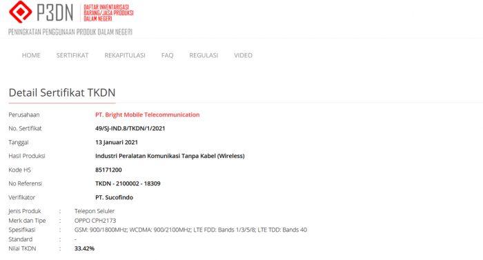 Find X3 Pro TKDN Indonesia