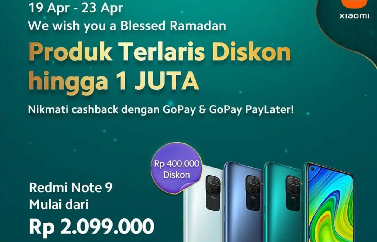 Hadiah-Cashback-GoPay-Redmi-Note-9-Harga Lebih Rendah-Rp-400-Ribu