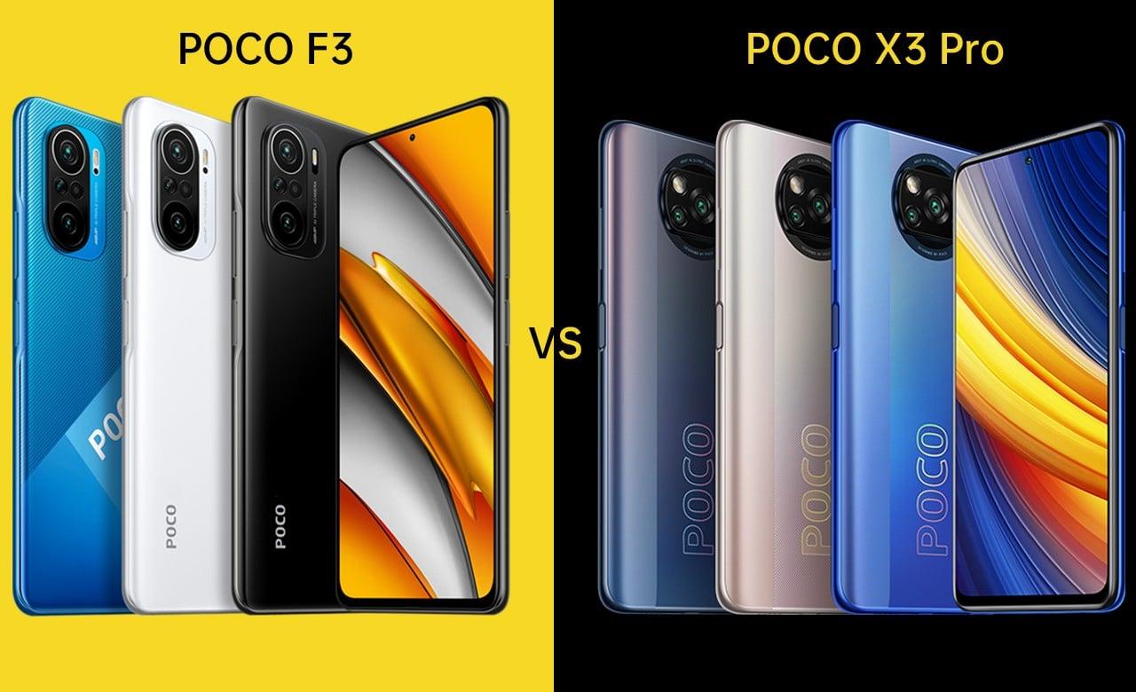 POCO F3 Vs POCO X3 Pro Header
