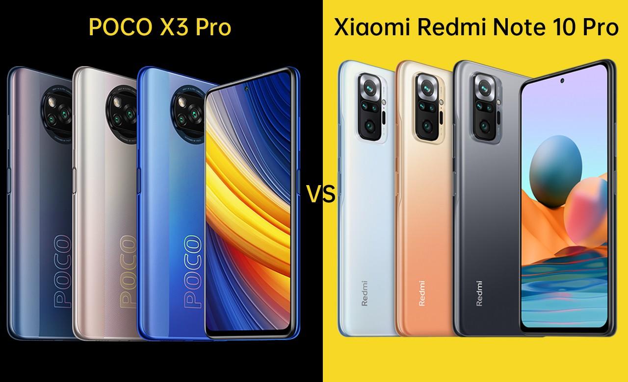 POCO X3 Pro vs Xiaomi Redmi Note 10 Pro Header
