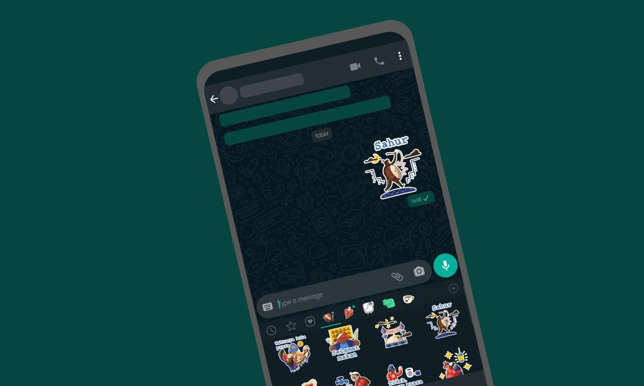 Stiker Sahur Lucu Ramadan WhatsApp Header