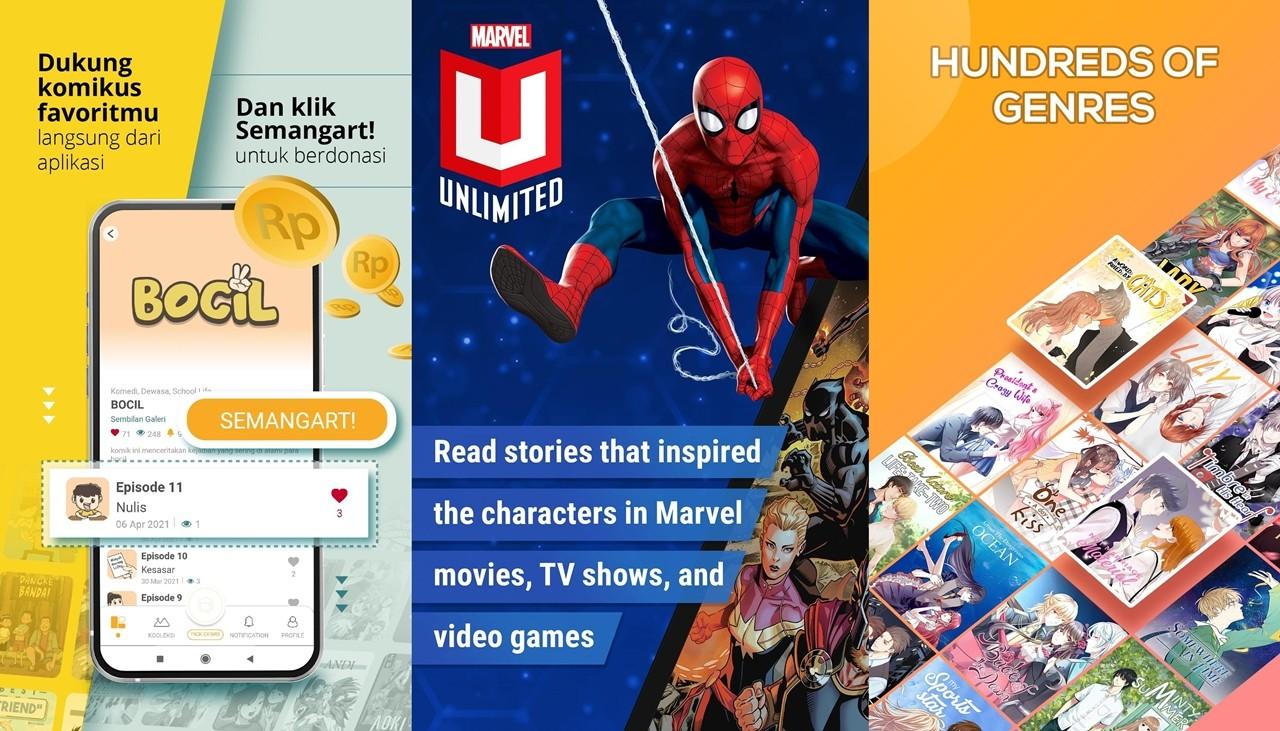 Aplikasi Baca Komik Webtoon Novel