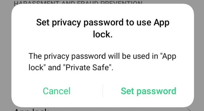 App Lock OPPO A74 Part 2