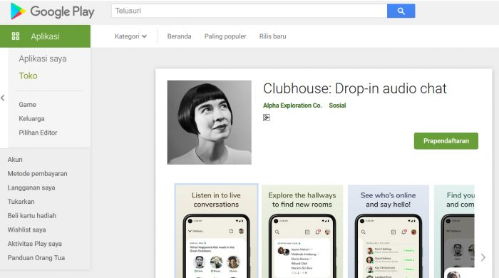Clubhouse Google Play