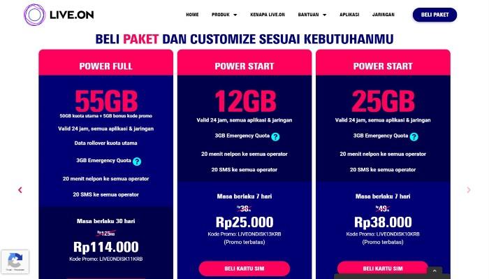 Live.On-Power-Start-12-GB-dan-25-GB-situs