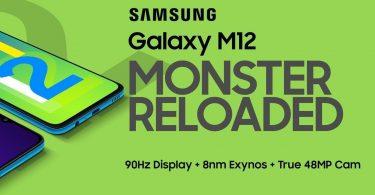 Samsung Galaxy M12 Header