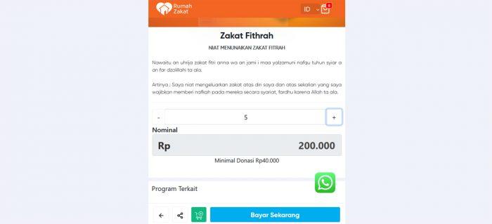 Zakat Fitrah Nominal