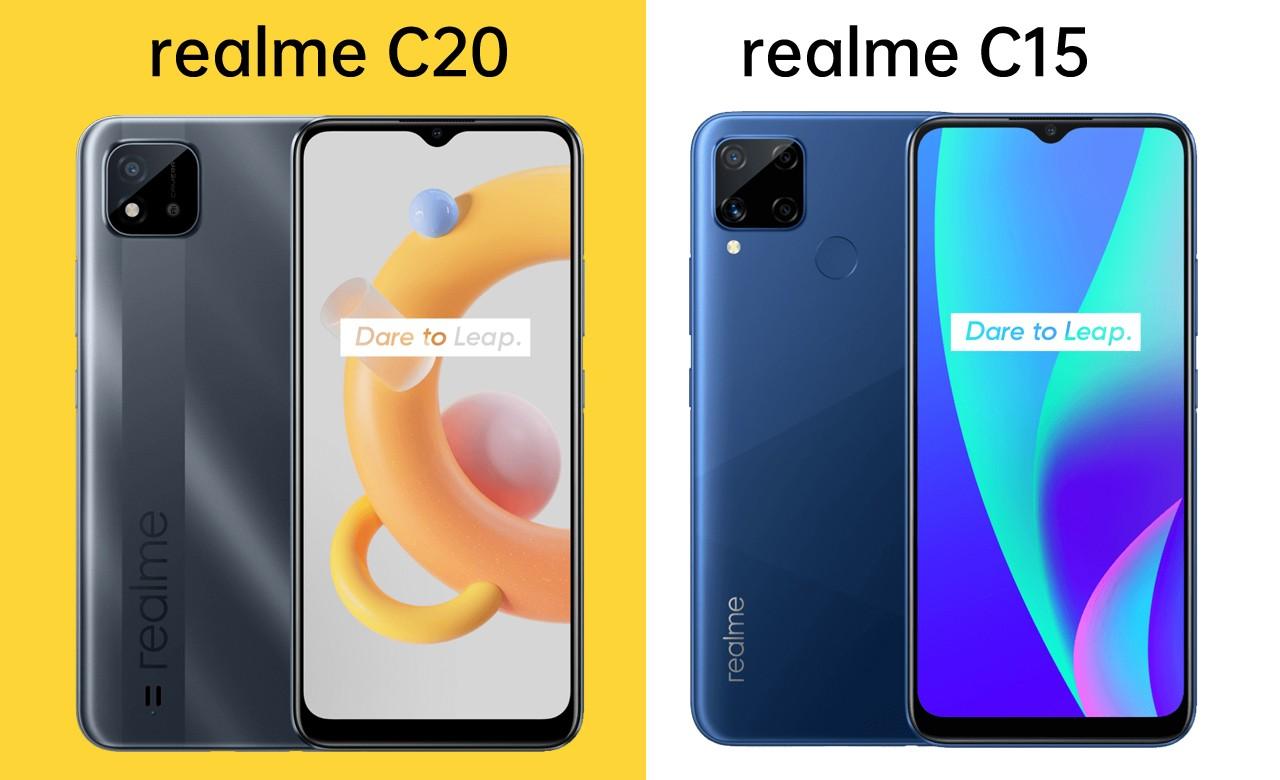 realme C20 vs realme C15 Header