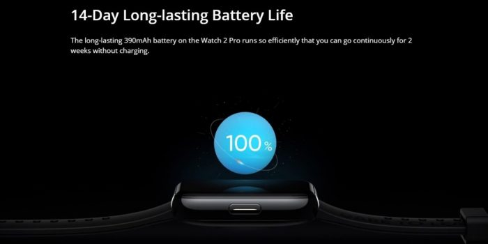 realme Watch 2 Pro Battery