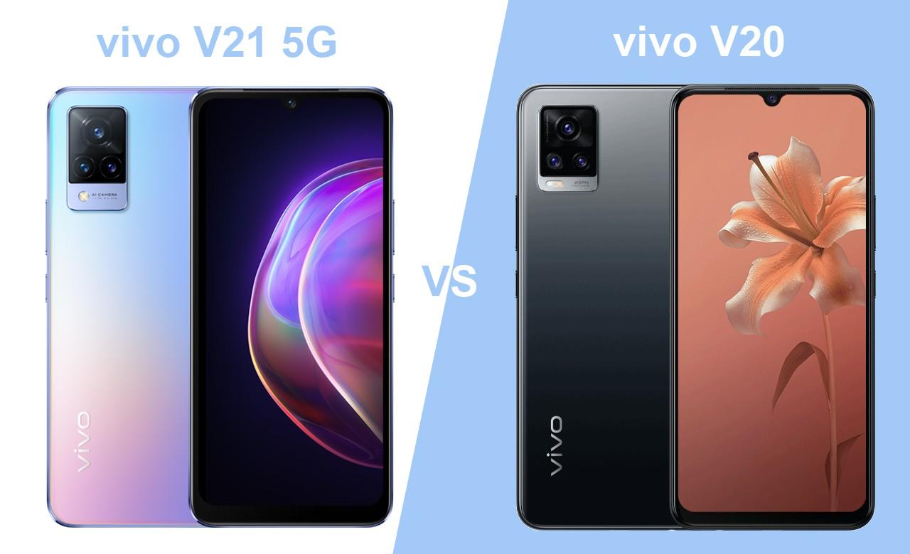 vivo V21 5G vs vivo V20
