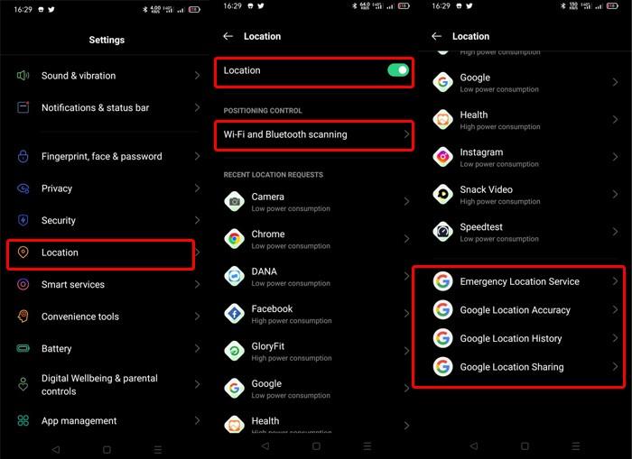 Aktivasi-GPS-Handphone-OPPO-Settings