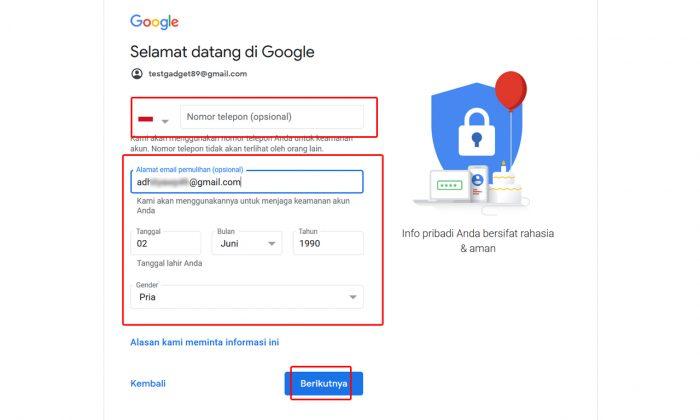 Buat Akun Gmail Web Part 3