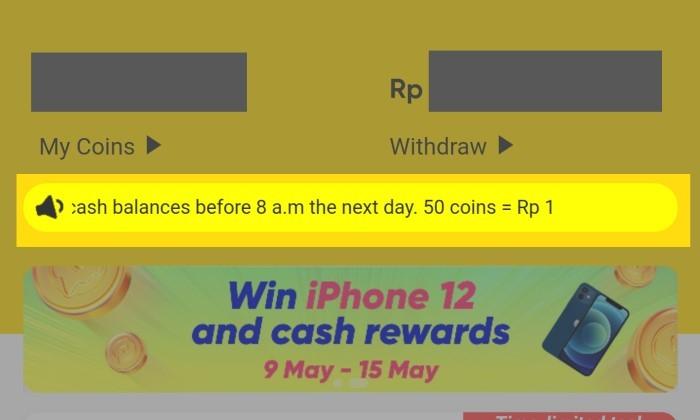 Cara Menghitung Koin SnackVideo ke Rupiah - 1