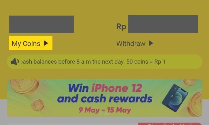 Cara Menghitung Koin SnackVideo ke Rupiah - 2