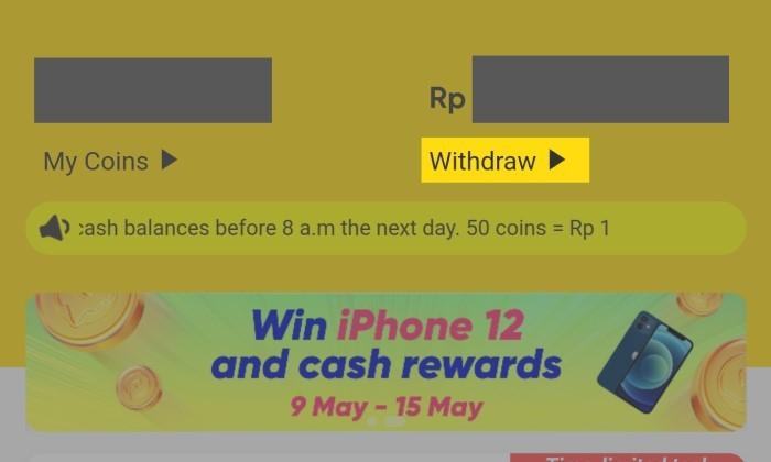 Cara Menghitung Koin SnackVideo ke Rupiah - 4