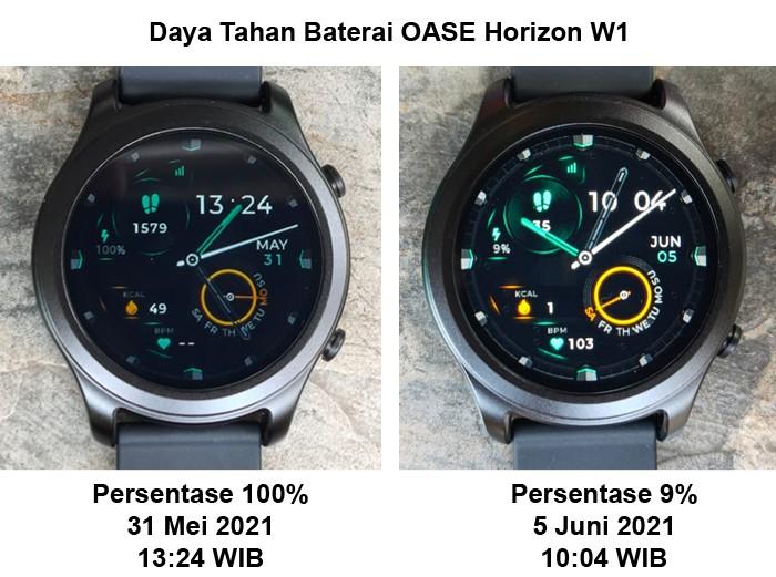 Daya tahan baterai OASE Horizon W1