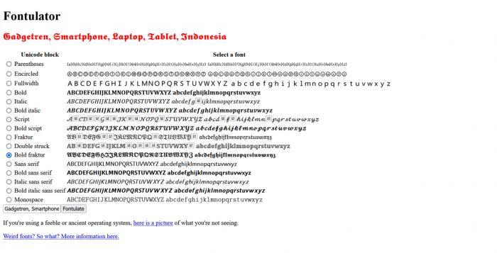 Fontulator Font Changer