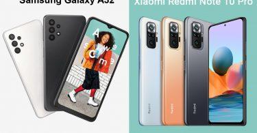 Galaxy A32 vs Redmi Note 10 Pro