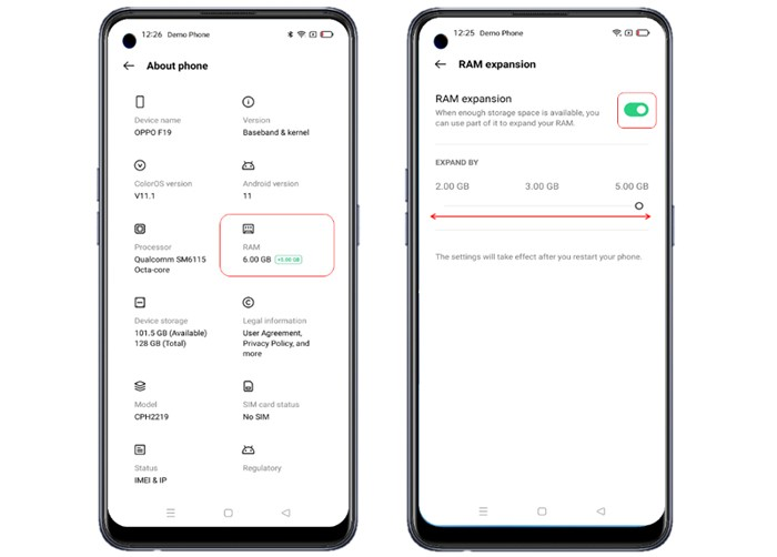OPPO A74 5G Memory Expansion ok