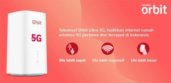 Paket 5G Telkomsel - Orbit