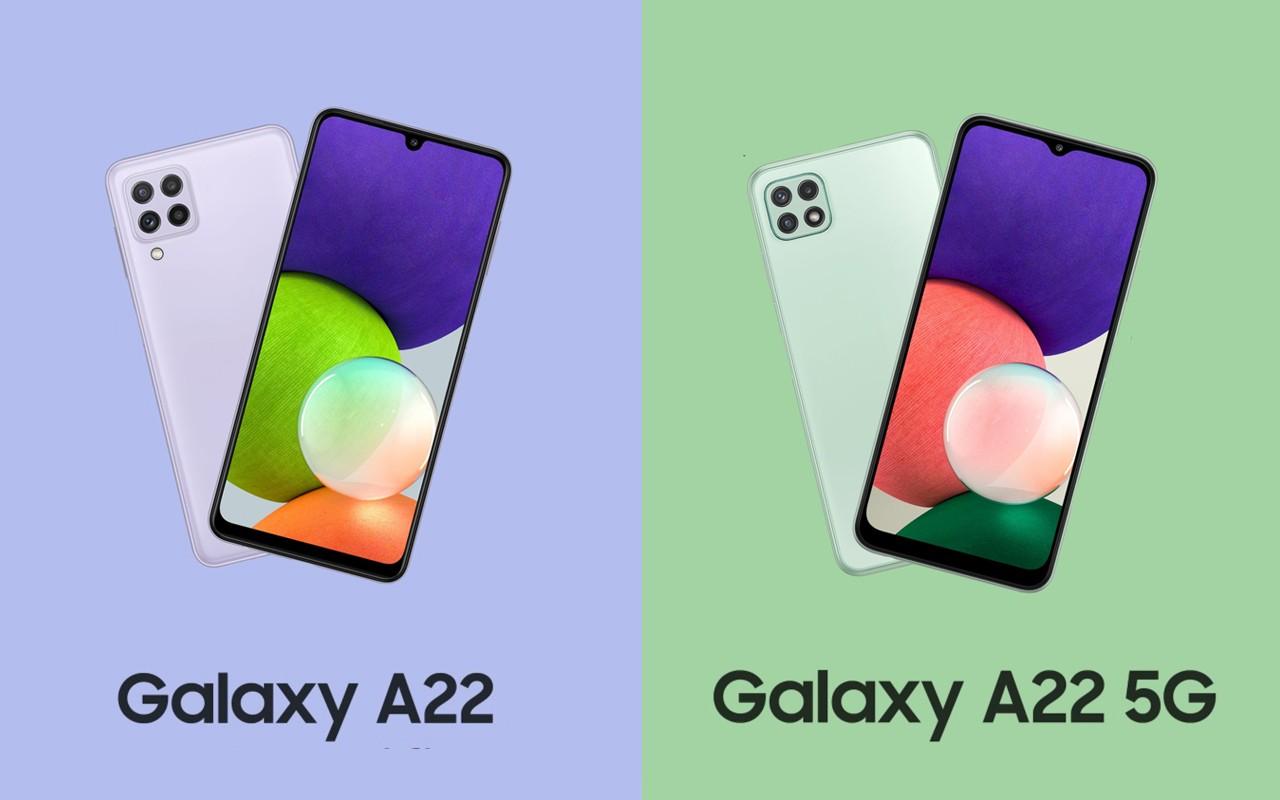 Samsung Galaxy A22 dan Galaxy A22 5G