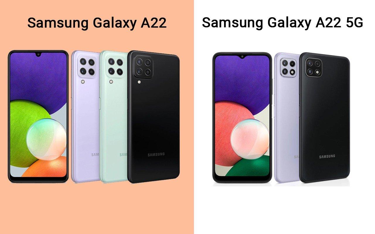 Samsung Galaxy A22 LTE vs Galaxy A22 5G