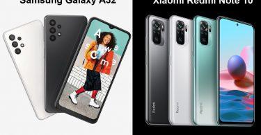 Samsung Galaxy A32 vs Redmi Note 10