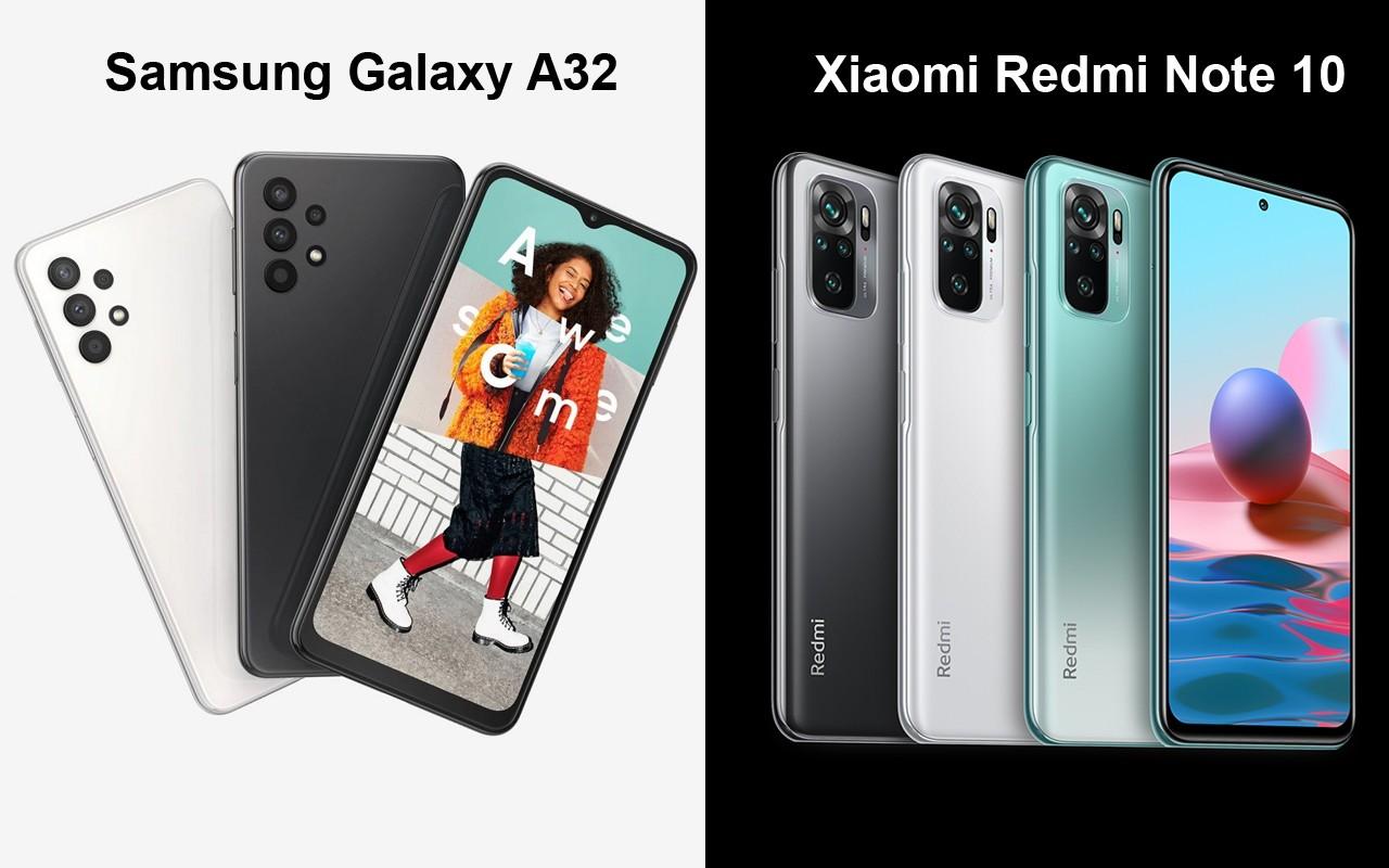 Perbandingan Samsung Galaxy A32 Vs Xiaomi Redmi Note 10