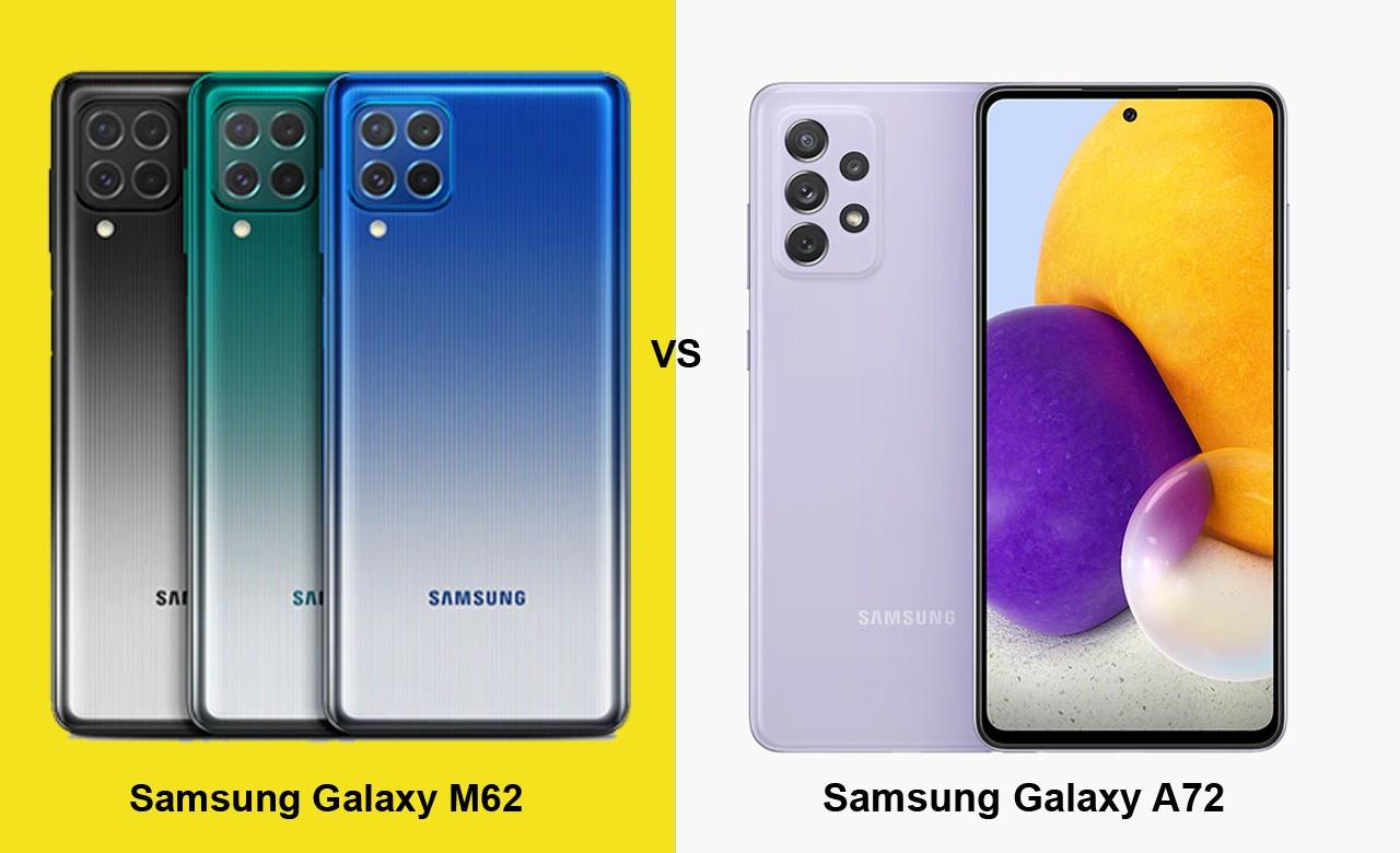 Samsung Galaxy M62 vs Galaxy A72